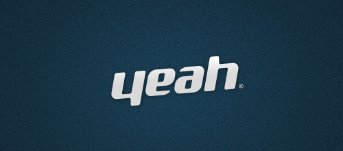 yeah ambigram logo design