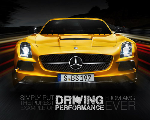 Mercedes AMG car website design