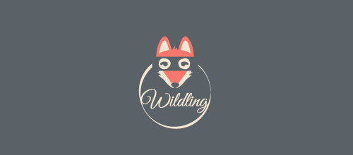wilding fox logo design