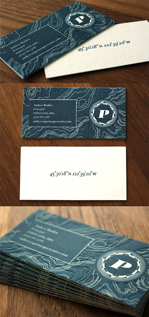 blue textured business card