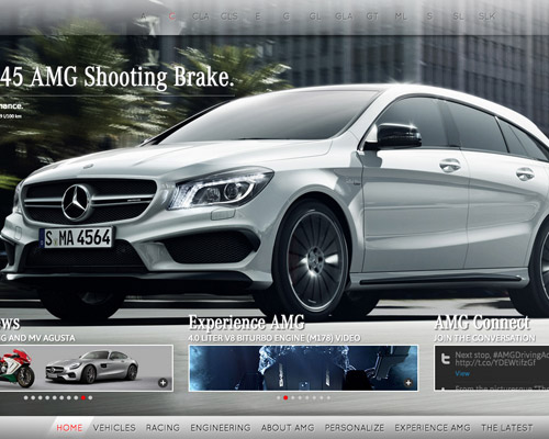 Mercedes AMG automotive website design