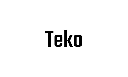 teko free bold fonts