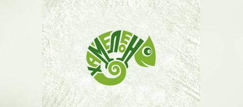 band chameleon logo design