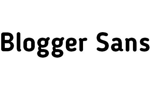 blogger sans free bold fonts