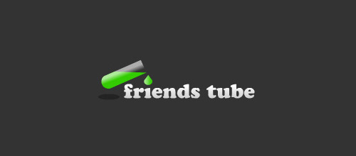 friends tube logo design