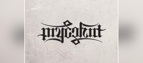 pryczkat ambigram logo design