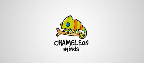 chameleon minds logo design