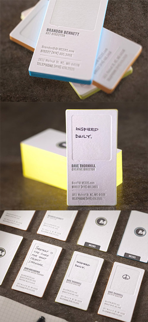 cool blind deboss business card