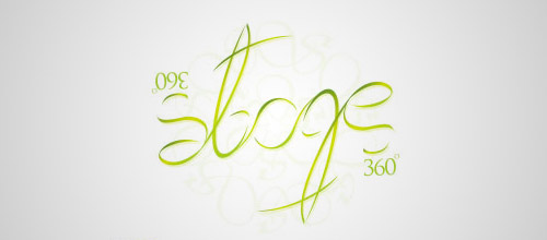 stage ambigram logo design