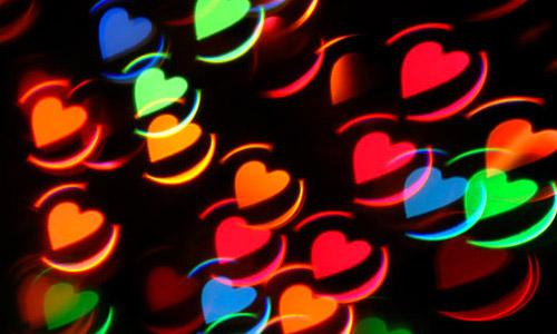 rainbow free heart bokeh texture