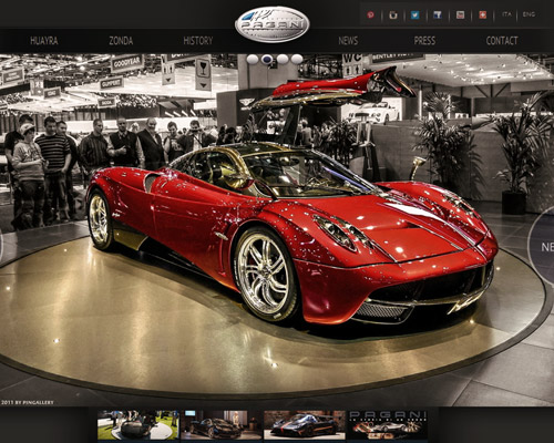 pagani car website design