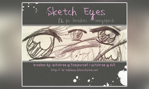 sketch eye photoshop brushes free