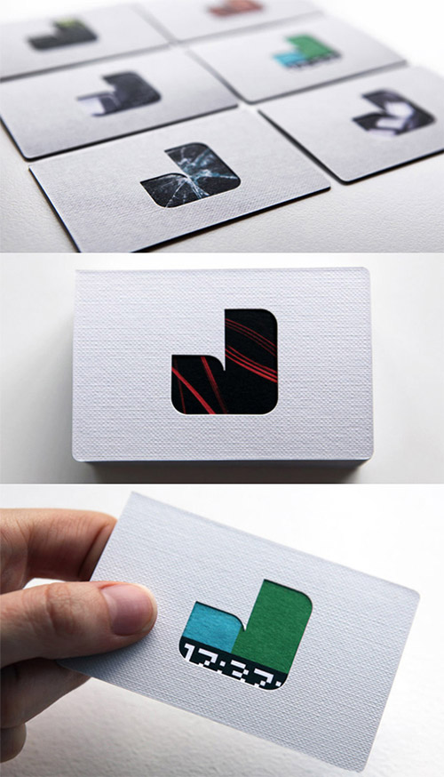 textured business card design
