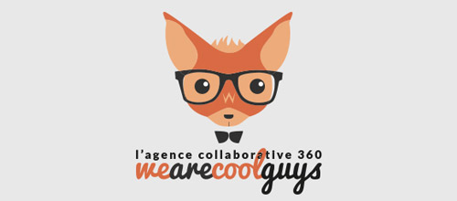 we are cool guys fox logo design