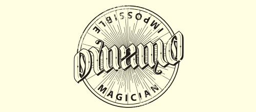 dynamo ambigram logo design