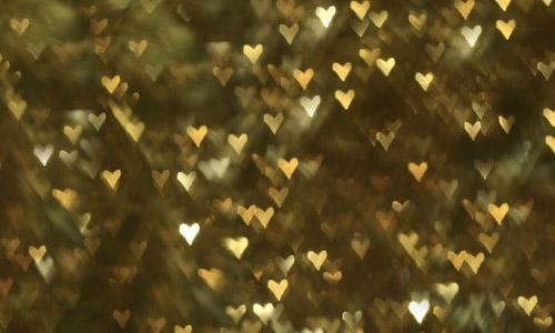 gold heart bokeh texture free