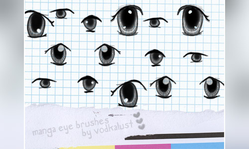 manga eye brushes photoshop free