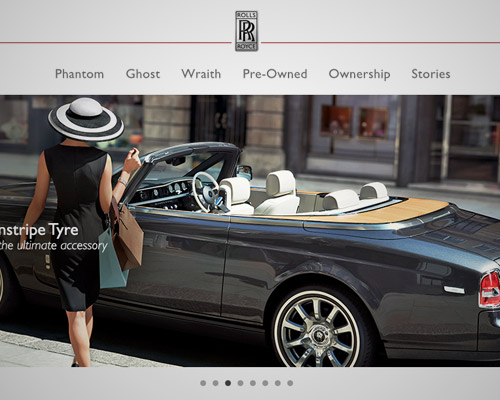 rolls Royce cars website design