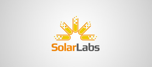 solar labs tube logo design