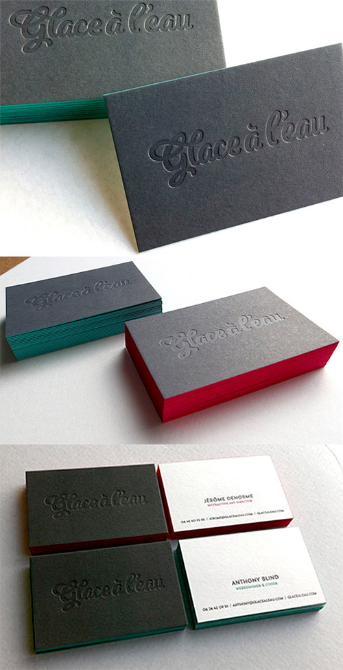 typography blid press business cards