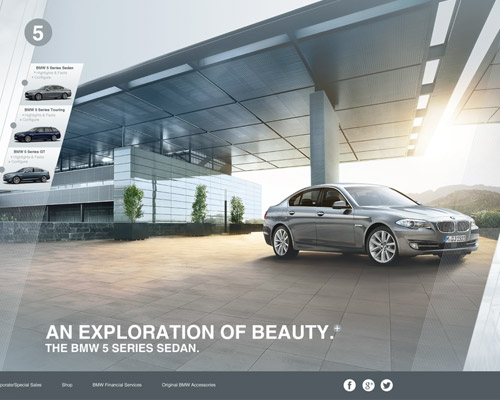 bmw international website design