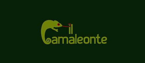 camaleonte chameleon logo design