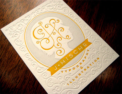 classical blind press business cards