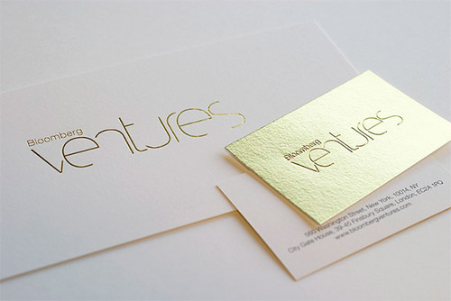 gold shiny business card