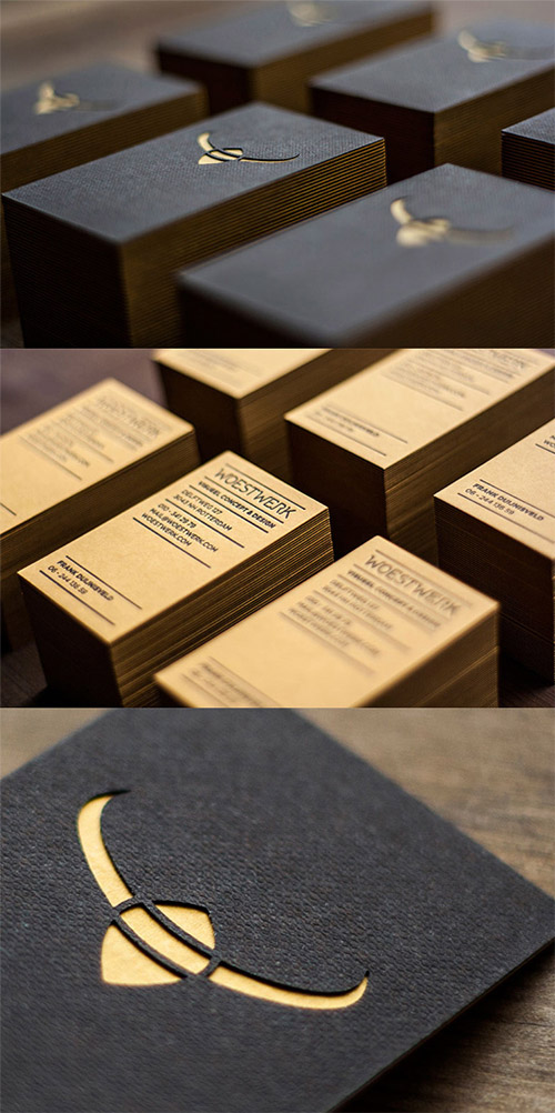multi textured business card