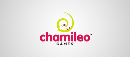 chamileo chameleon logo design