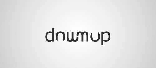 downup ambigram logo design
