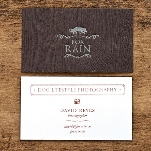 stamped textured business card