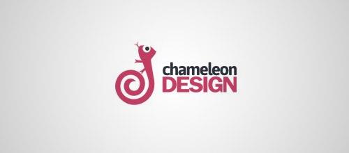 chameleon design logo