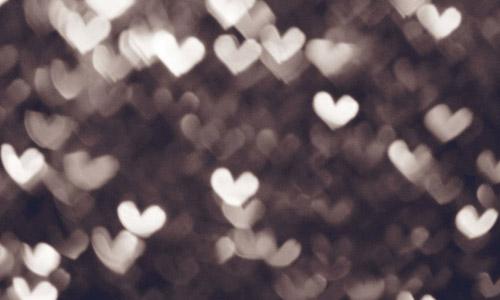 hearts bokeh textures