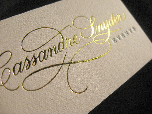 letter gold business card