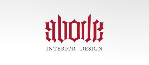 abode ambigram logo design