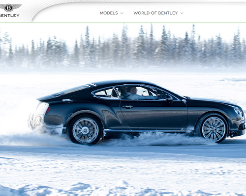 Bentley motors car website design