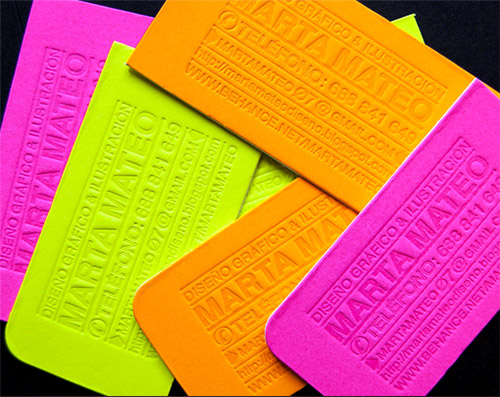 bright blind press business card