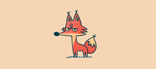 fox logo design illustration