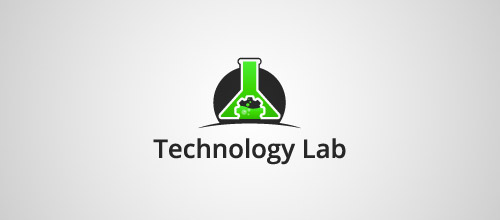 technology lab tube logo design