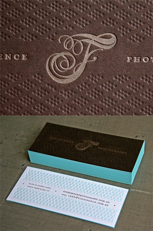 typography textured business card