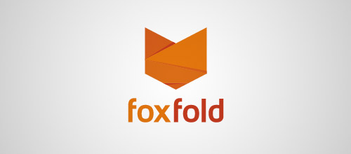 fox fold logo design