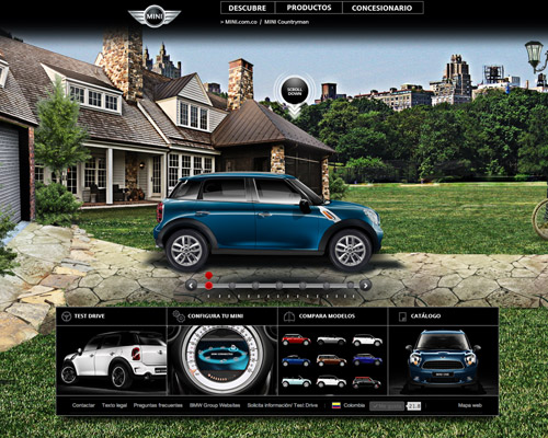 mini countryman car website design