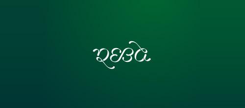 reba ambigram logo design