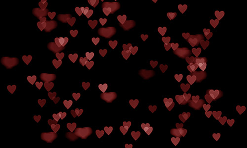 free red heart bokeh texture