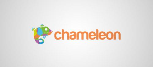 nice chameleon logo design