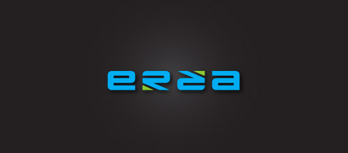 ezra ambigram logo design