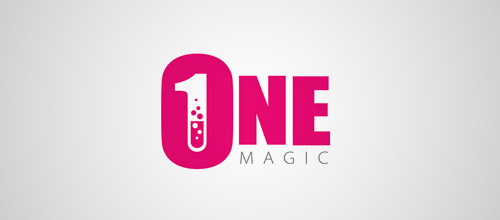 one magic tube logo design