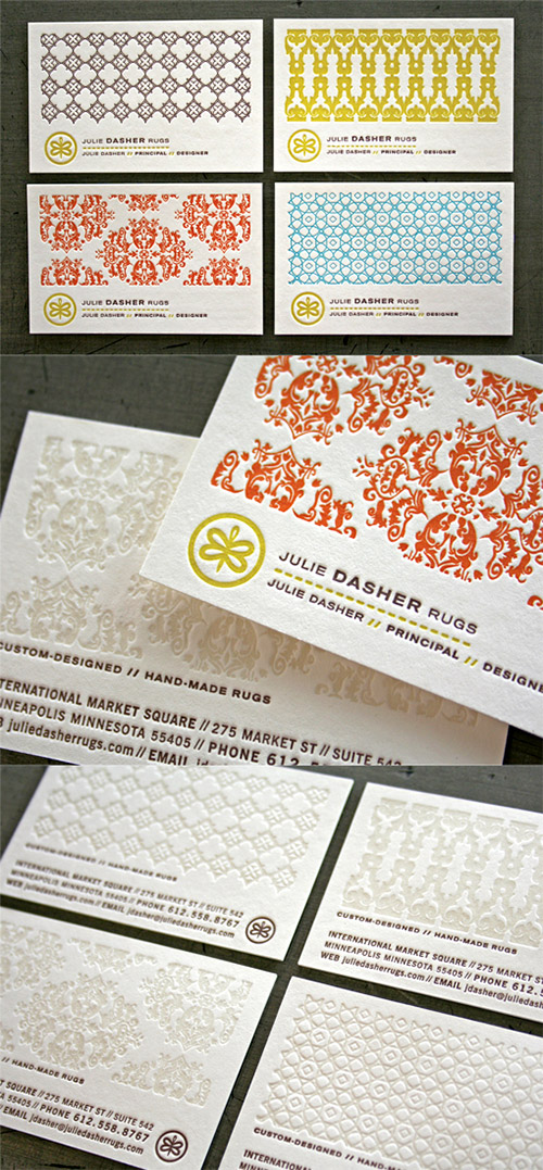 pattern textured business card