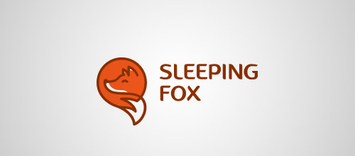 sleeping fox logo design